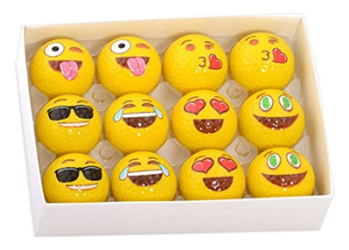 Professional 2-Ply Practice Emoji Golf Balls