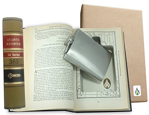 Recycled Law Book with Hidden Flask