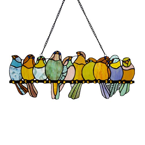 River Goods Stained Glass Birds Suncatcher