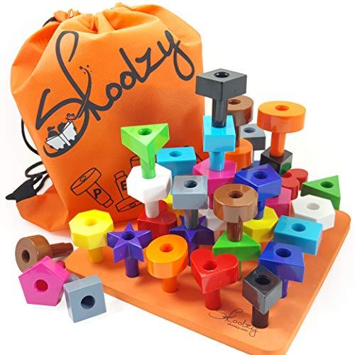 Skoolzy Peg Board Stacking Toy