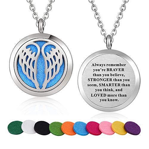 Stainless Steel Aromatherapy Essential Oil Diffuser Necklace Locket Pendant