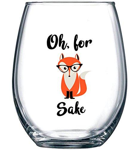Stemless Comedy Wine Glass