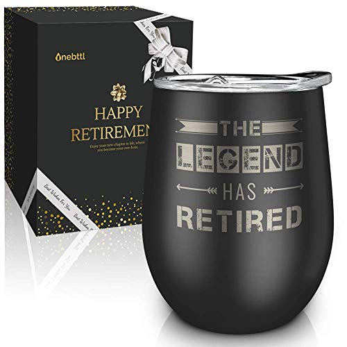 The Legend Has Retired 12 Ounce Wine Tumbler
