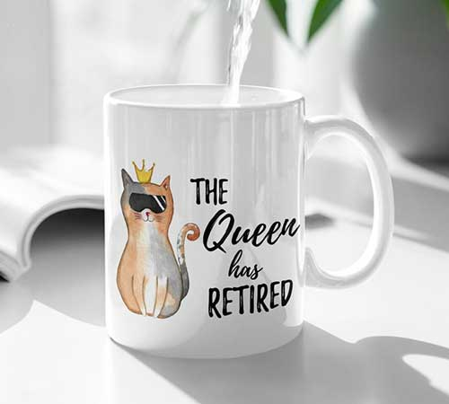 The Queen has Retired Mug