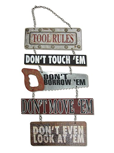 Tool Rules Wall Sign
