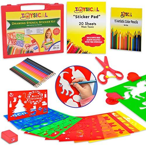 Toysical Kids Stencils Sticker Set