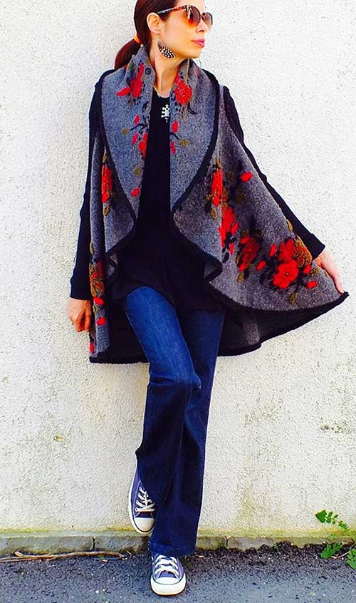 Women Outerwear Long Felt Jacket