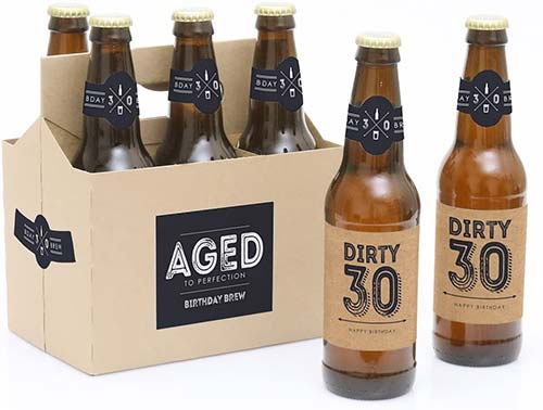 30th Birthday Bottle Labels