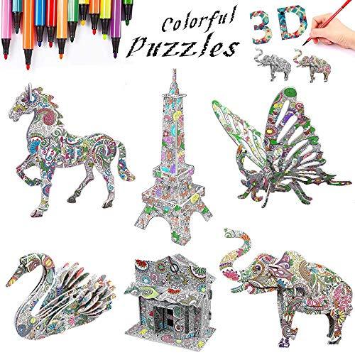 3D Coloring Puzzle Set