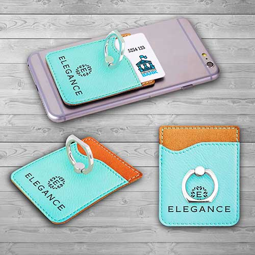 Cool Custom Phone Wallet with Ring Kickstand