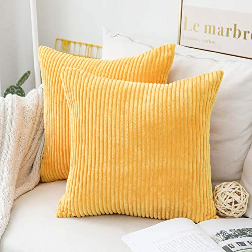 Corduroy Velvet Decorative Throw Cushion Covers