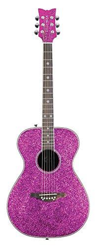 Daisy Rock Pink Sparkle Acoustic Guitar
