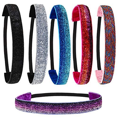 Glitter Elastic Headbands