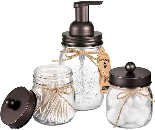 Jar Bathroom Accessories Set