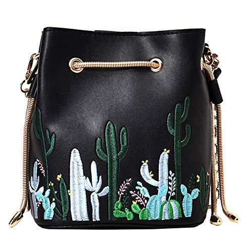 Mini Bucket Purse with Cacti