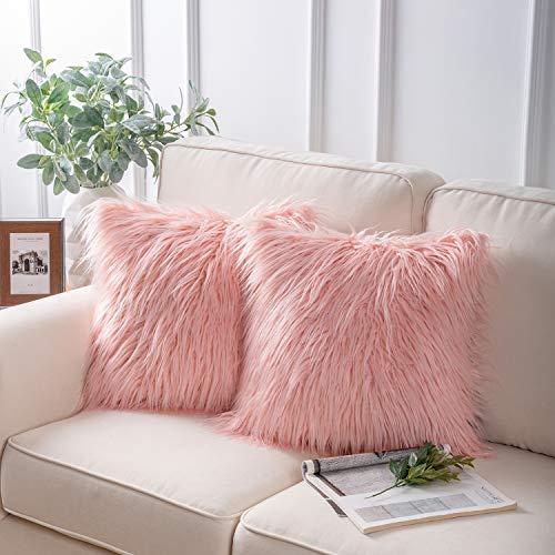 Phantoscope Pink Fuzzy Throw Pillows