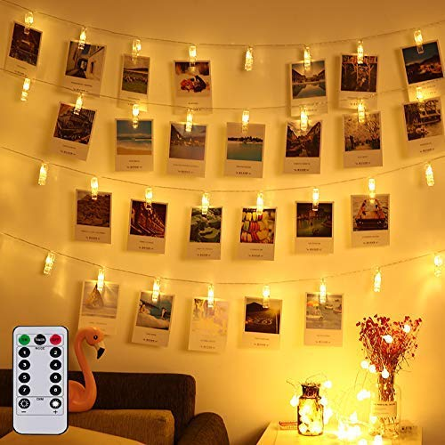 Photo Clip Remote String Lights