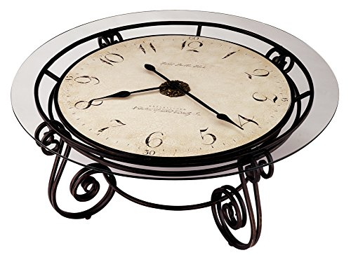 Round Coffee Table with Clock
