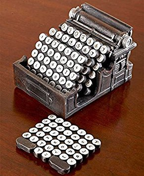 Typewriter Coaster Set