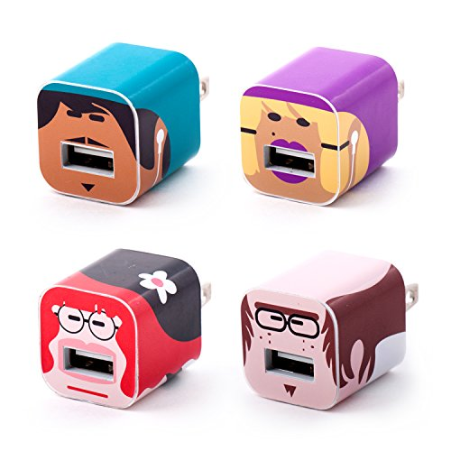 iPhone Charger Sticker Face Set