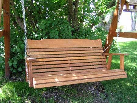 Amish Cedar Porch Swing