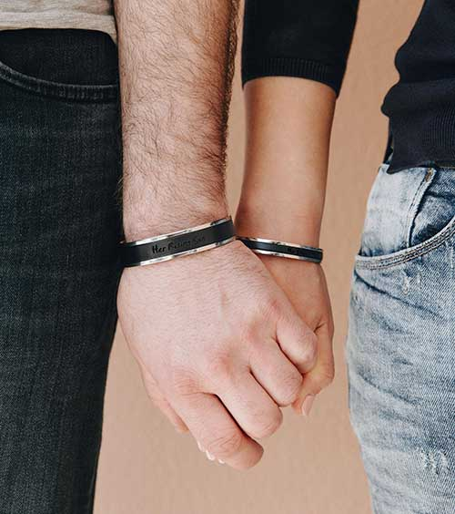 Couples His and Her Bracelets