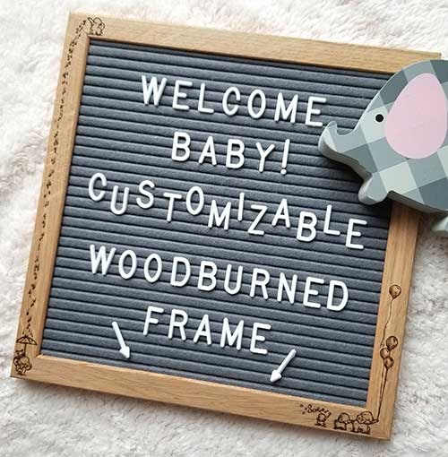 Customizable Baby Letterboard