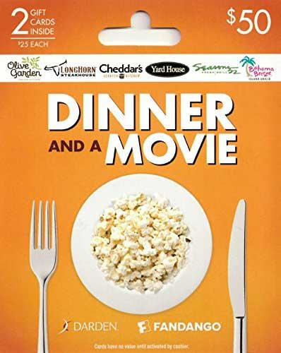 Darden Fandago Dinner and a Movie Gift Card Set