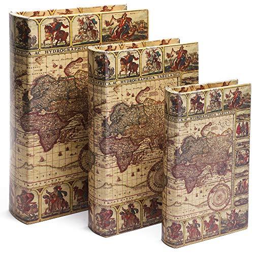 Decorative Vintage Hollow Book Set