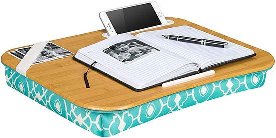Designer Lap Desk with Phone Holder