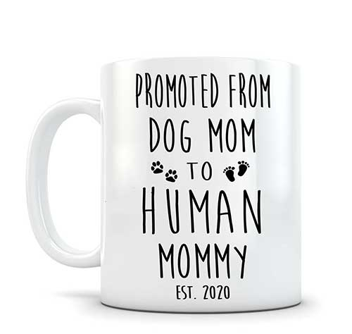 Dog Mommy to Human Mommy Mug