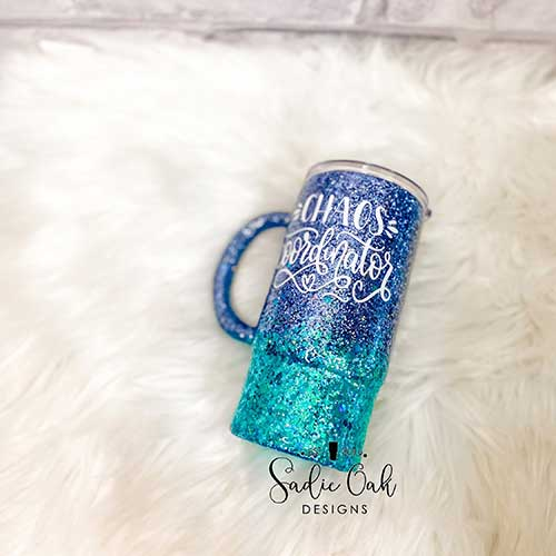 Glitter Tumbler for New Mom