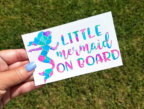 Little Mermaid on Board Car Decal