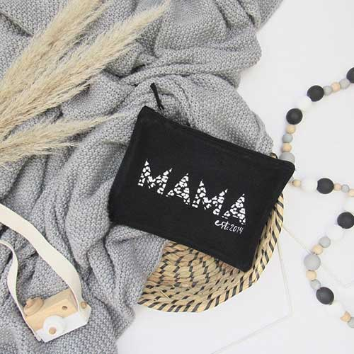 Mama Makeup Pouch and Diaper Bag