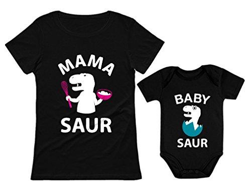 Mama Saur Baby Saur T-Rex Matching Outfit
