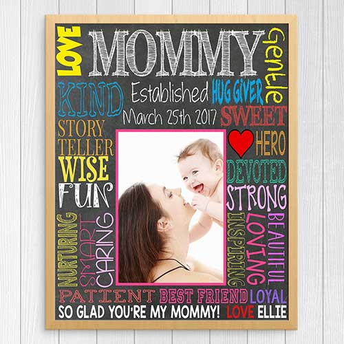 Mom Gift Customized Chalkboard Wall Art