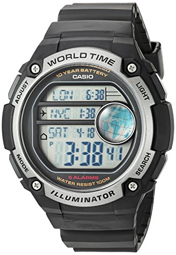 Multiple Time Zone Digital Watch