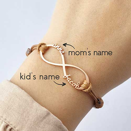 New Mom Personalized Eternity Bracelet