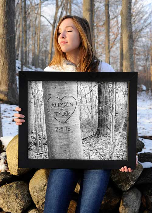 Personalized Carved Tree Art