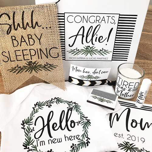 Personalized New Mom Gift Basket