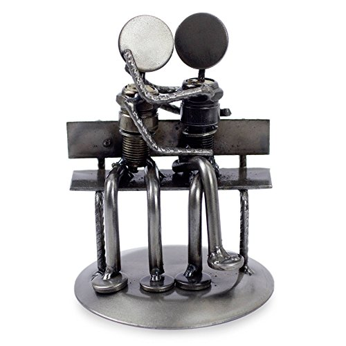 Recycled Auto Parts Park Bench Figurine