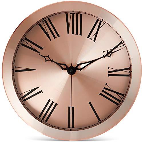 Rose Gold Metal Wall Clock