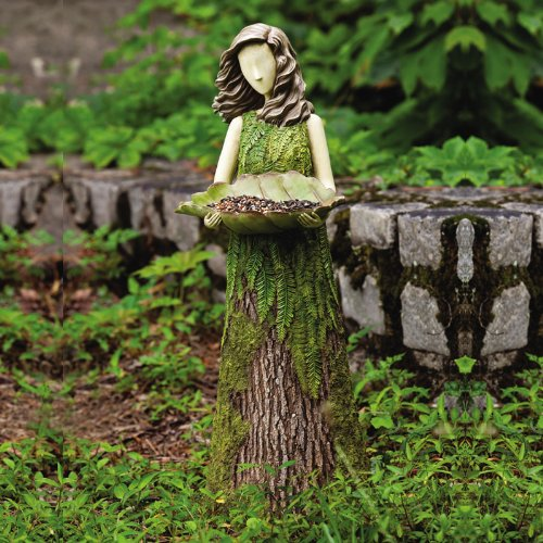 Sherwood Fern Statuary With BIrd Feeder