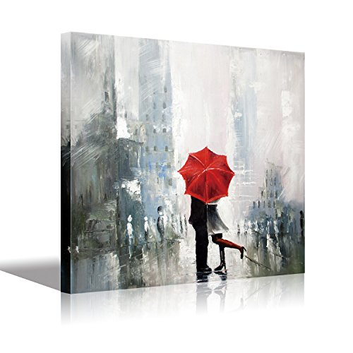 Stretched Canvas Lovers Kiss Wall Art