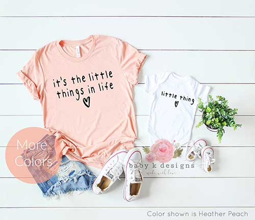 The little things Shirt Mommy and Baby
