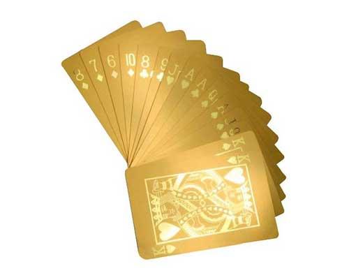 24 Karat Gold Dipped Poker Cards