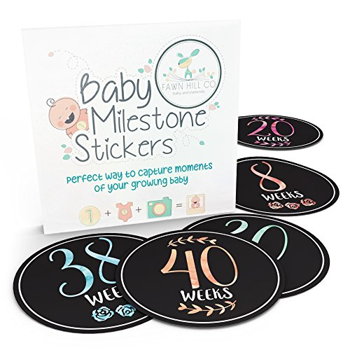 Belly Bump Baby Milestone Stickers