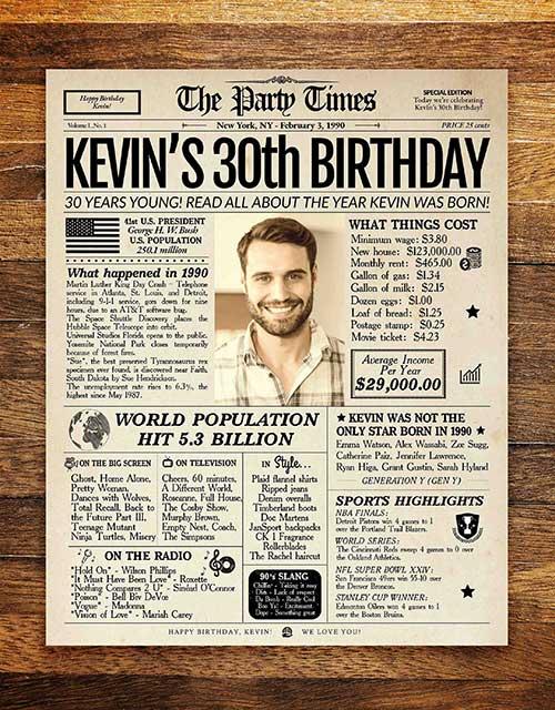 Birthday Newspaper Poster