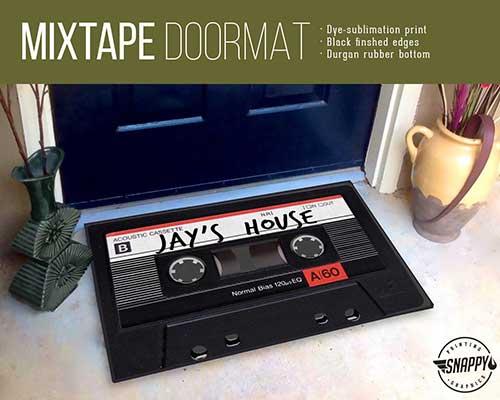 Cassette Tape Doormat