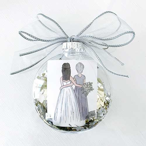 Custom Mother of the Bride Ornament
